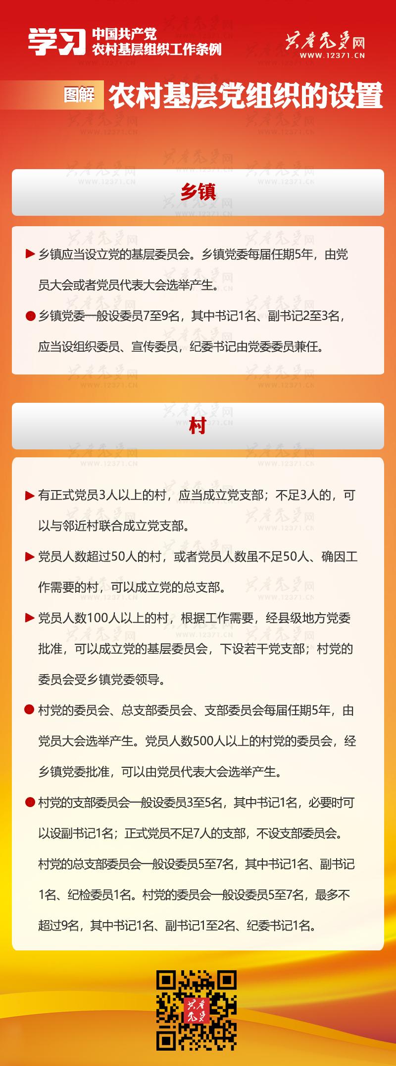 图解《中国共产党农村基层组织工作条例》② 组织设置